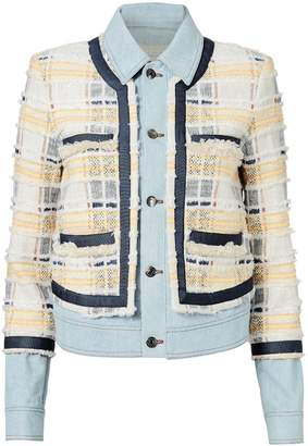 Veronica Beard Santiago Fringe Denim Jacket