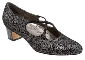 Trotters Jamie Brocade Fabric Pumps