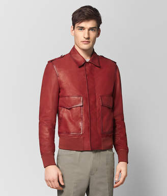 Bottega Veneta DARK CHINA RED CALF JACKET
