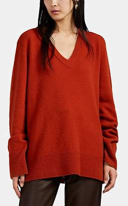 The Row Women's Elaine Wool-Cashmere V-Neck Sweater - Rust