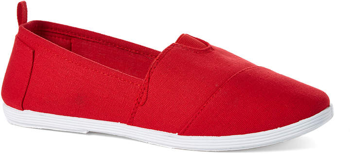 Red Minimalist Slip-On Shoe - Women