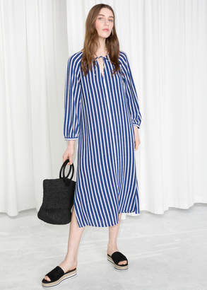 And other stories Striped Billowy Kaftan Dress