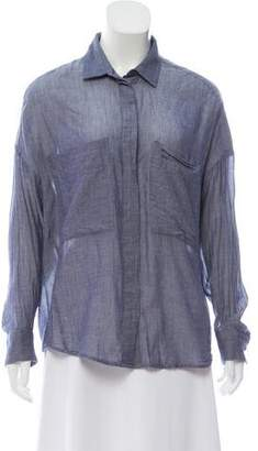 IRO Chambray Button-Up Top
