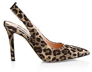 Sarah Jessica Parker Women's Doe Leopard Print Sling Back Pumps