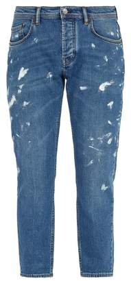 Acne Studios - River Painted Jeans - Mens - Blue