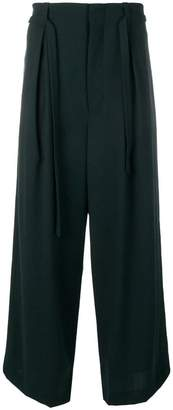 Ethosens pleated wide-leg trousers