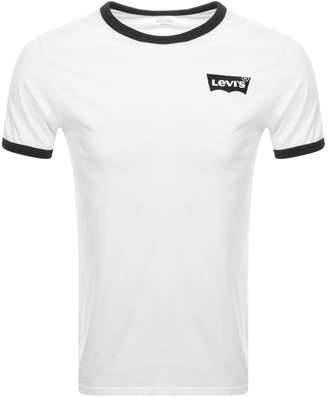 Levi's Levis Crew Neck Ringer T Shirt White