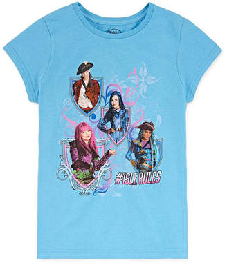 Disney Girls Round Neck Short Sleeve Descendants Graphic T-Shirt Preschool / Big Kid
