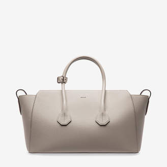 Boom Medium Grey, Womens bovine leather top handle bag in snuff Bally