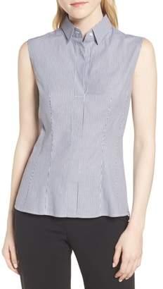 BOSS Bashiva Stripe Stretch Poplin Shirt