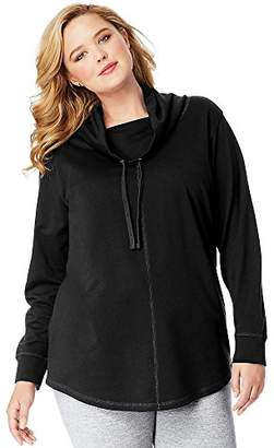Just My Size Womens Essentials French Terry Cowl Neck Tunic