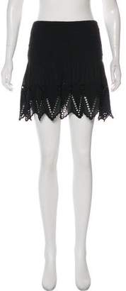Ulla Johnson Eyelet Mini Skirt