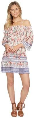 Angie Smocked Cold Shoulder Dress Women's Dress