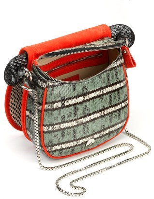 Carven Multi Snake Leather Shoulder Bag