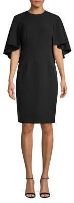 Eliza J Cape-Sleeve Sheath Dress
