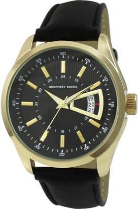 Geoffrey Beene GB8144GD Gold-Tone & Black Watch