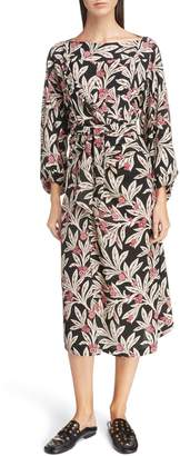 Etoile Isabel Marant Lisa Floral Print Midi Dress