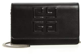 Givenchy Emblem Lambskin Leather Crossbody Bag