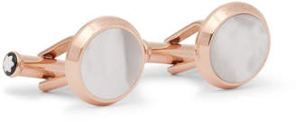 Montblanc Meisterstück Rose Gold-Tone Mother-of-Pearl Cufflinks
