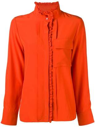 Chloé frilled band collar blouse