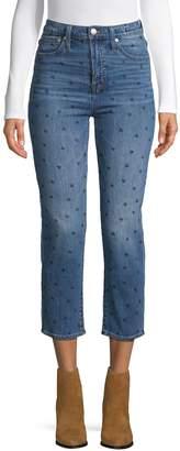 Madewell Heart-Print Jeans