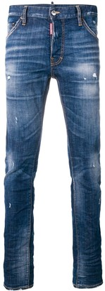 DSQUARED2 lightly distressed skinny jeans