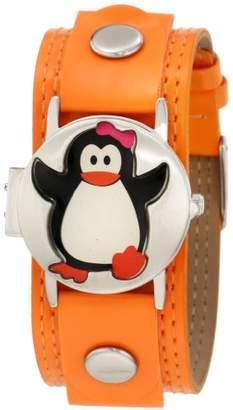 Original Penguin Frenzy Kids' FR319 Penguin Analog Watch with Orange Band