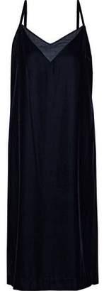 Elie Tahari Silk Chiffon-Paneled Velvet Dress
