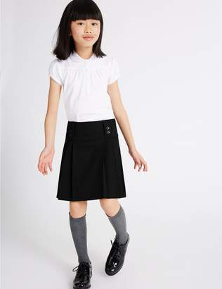 Marks and Spencer Girls' Plus Fit Pleated Skirt