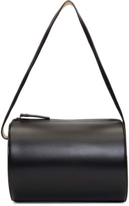 Building Block Black Barrel Bag