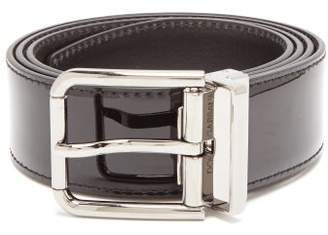 Dolce & Gabbana Vernice Patent Leather Belt - Mens - Black