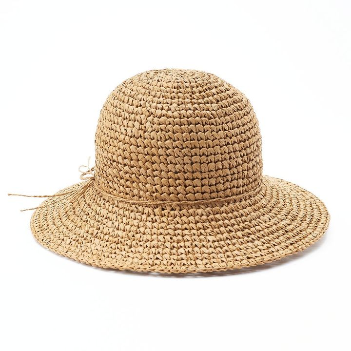 SONOMA Goods for LifeTM Crocheted Straw Floppy Hat