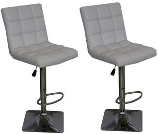 US Pride Furniture Landon Quilted Faux Leather Adjustable Swivel Bar Stools (Set of 2)