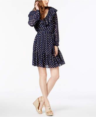Michael Kors Printed Ruffled Dress