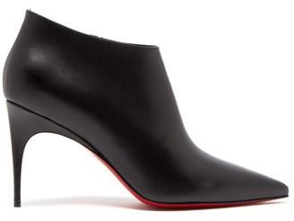 Christian Louboutin Gorgona 85 Leather Ankle Boots - Womens - Black