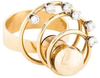 Ring 14K Diamond Orbit