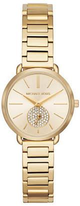 Michael Kors Portia Rose Goldtone Bracelet Watch