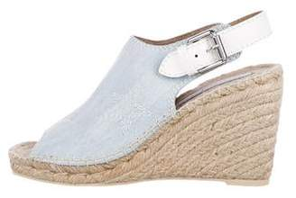 Stella McCartney Denim Espadrille Wedges