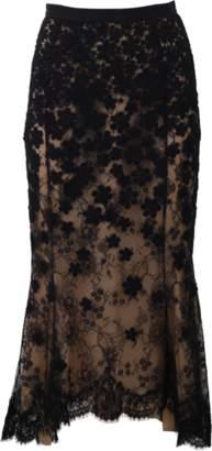 Oscar de la Renta High-Low Lace Skirt