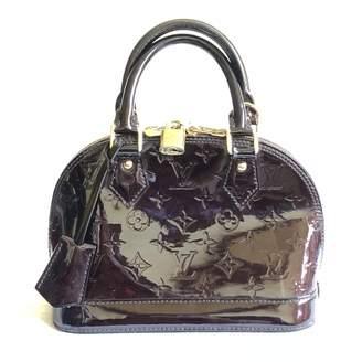 Louis Vuitton Alma BB Burgundy Patent leather Handbag