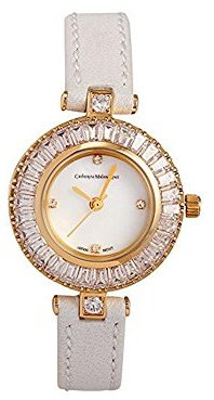 Catherine Malandrino (キャサリン マランドリーノ) - Catherine Malandrino Ladies Watch cm9397g264 – 027母のパールダイヤルレザー