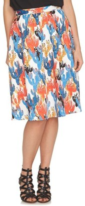 CeCe 'Cactus Sketches' Print Full Skirt $99 thestylecure.com