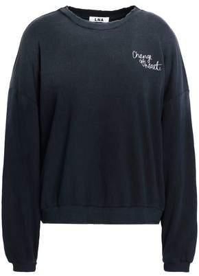 LnA Embroidered Dégradé Cotton-Fleece Sweatshirt