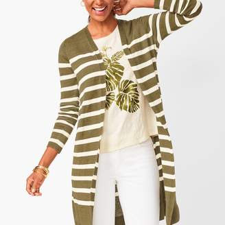 Talbots Lightweight Duster - Stripe