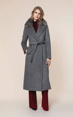 Soia & Kyo ADELAIDA-FX slim fit classic wool coat with removable fur
