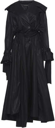 Vika Gazinskaya Bow-Detail Cotton Trench Coat
