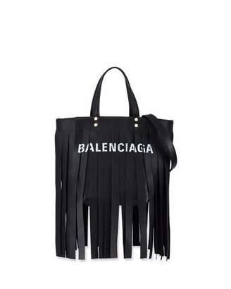 Balenciaga Laundry Cabas XS Fringe Satchel Bag