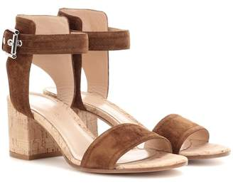 60a169946 Gianvito Rossi Brown Cork Heel Women s Sandals - ShopStyle