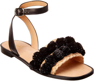 Joie Raffia & Leather Sandal