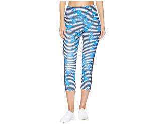Kate Spade Athleisure Hibiscus Stripe Leggings Women's Casual Pants